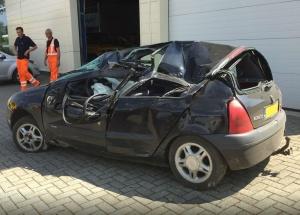 De auto van het slachtoffer Foto Bart Meesters/Meesters Multi Media