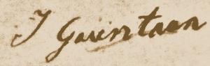 Originele handtekening van Johan Gaientaan