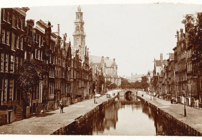Rozengracht voor de demping in 1889 © Stadsarchief Amsterdam
