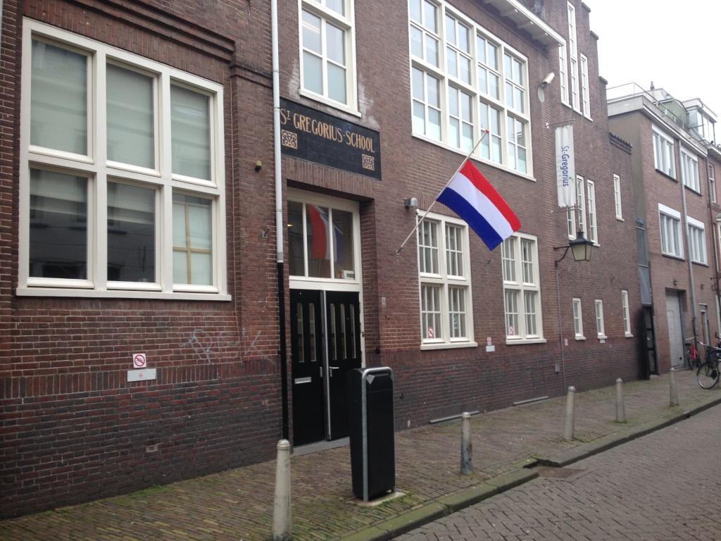 Nederlandse vlag halfstok