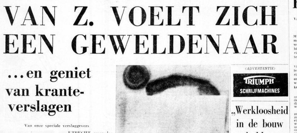 Hans genoot van de aandacht (21 december 1967) © De Telegraaf