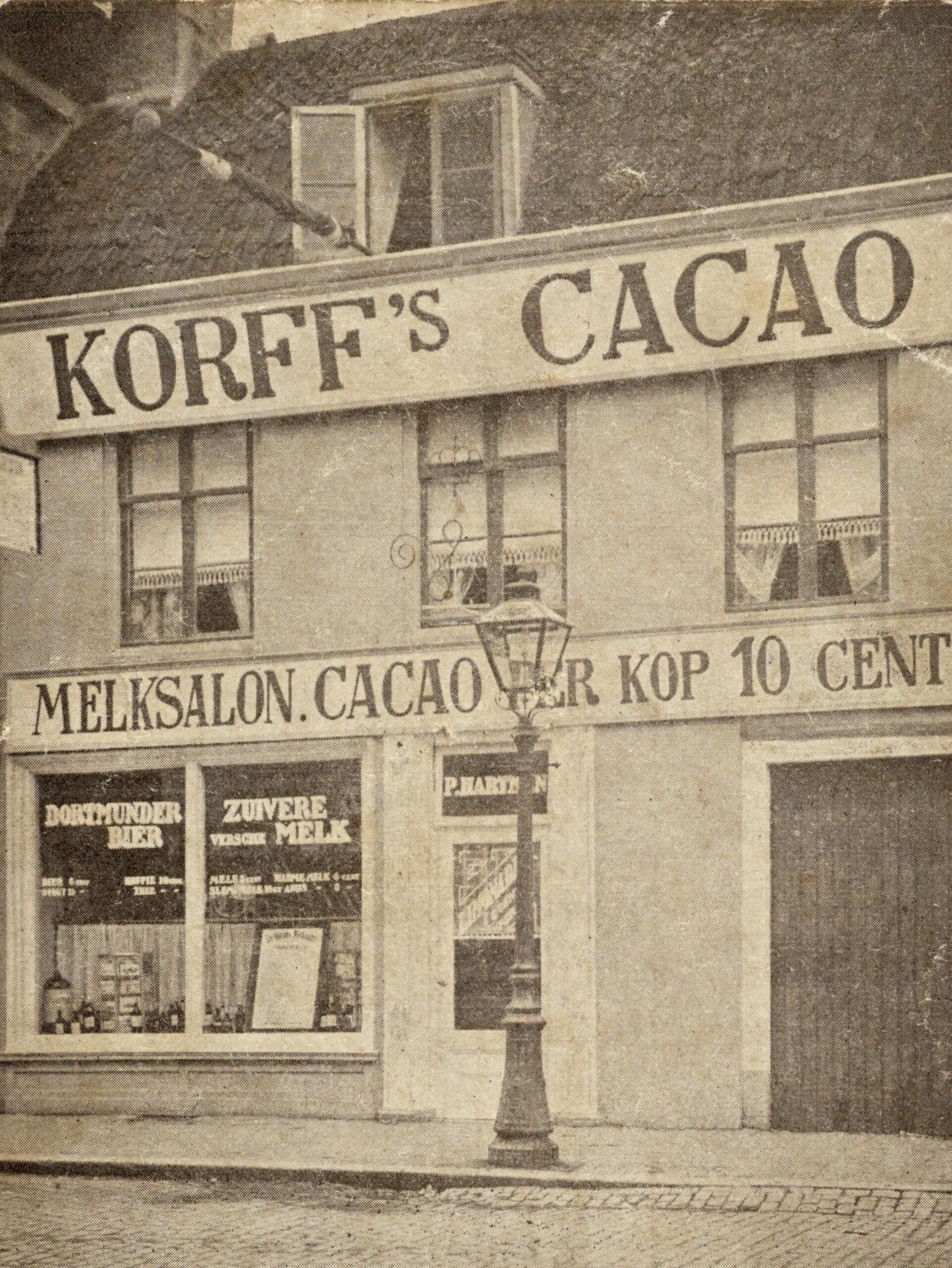 Een melksalon in Utrecht, begin 20e eeuw © Het Utrechts Archief