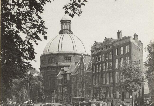 Singel met de Ronde Lutherse Kerk,, Amsterdam
