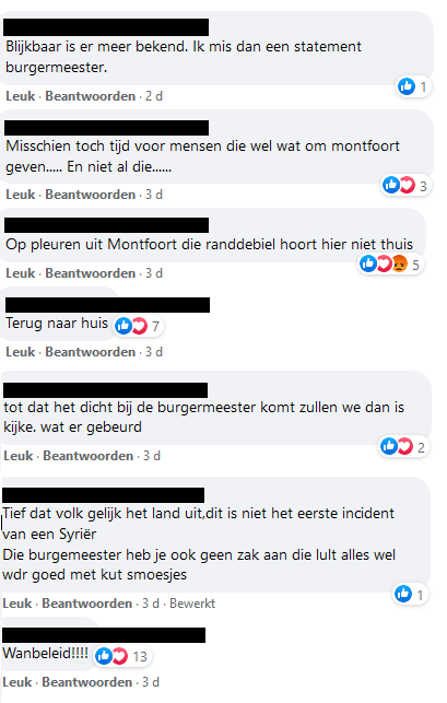 Enkele reactie op de Facebookpagina van de gemeente Montfoort